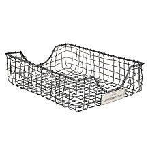 Buy John Lewis Wire Inbox Tray, Antique Zinc Online at johnlewis.com