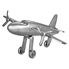 Buy John Lewis Nickel Decorative Plane Online at johnlewis.com