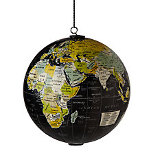 Buy John Lewis Hanging Globe, Black Online at johnlewis.com