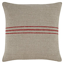 Buy John Lewis Stripe Cushion, Red Online at johnlewis.com