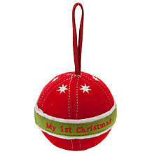 Buy John Lewis Baby My First Christmas Fabric Bauble, Red Online at johnlewis.com