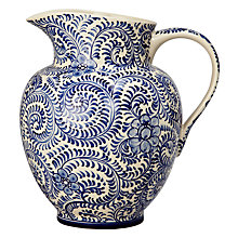 Buy John Lewis Patterned Ceramic Jug, Blue Online at johnlewis.com