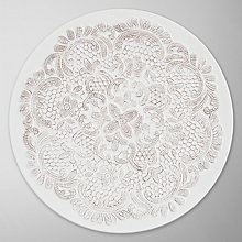 Buy John Lewis Lace Platter, White/ Taupe Online at johnlewis.com