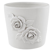 Buy John Lewis Flower Planter, Cream Online at johnlewis.com