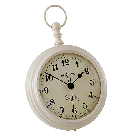Buy Newgate Empire Clock, Cream Online at johnlewis.com