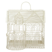 Buy John Lewis Wire House Planter, Cream Online at johnlewis.com