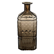 Buy John Lewis Vintage Glass Bottle, Brown Online at johnlewis.com