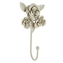 Buy Antique Ivory Rose Single Hook Online at johnlewis.com
