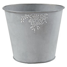 Buy John Lewis Zinc Leaf Trail Planter Online at johnlewis.com