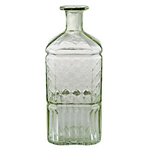 Buy John Lewis Vintage Glass Bottle, Green Online at johnlewis.com