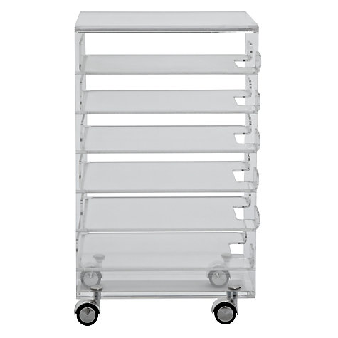 Buy John Lewis Ice 6 Drawer Filing Cabinet Online at johnlewis.com