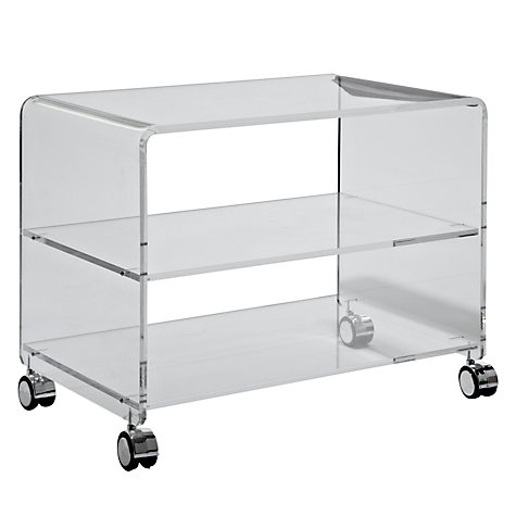 "Buy John Lewis Ice TV Trolley for TVs up to 26"" Online at johnlewis.com"