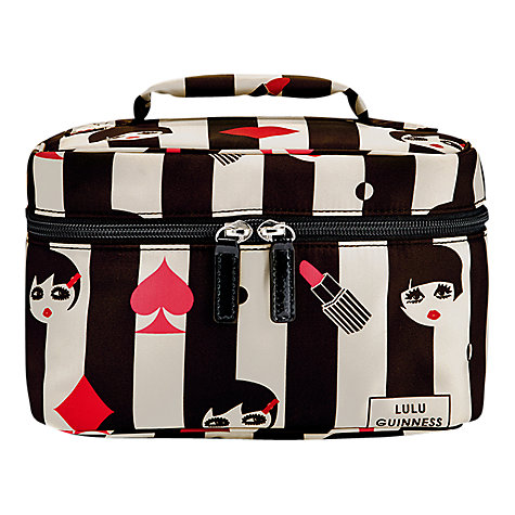 Buy Lulu Guinness Doll Face Icon Vanity Case, Black/White Online at johnlewis.com
