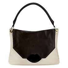Buy Lulu Guinness Nicola Medium Shoulder Bag, Black/Stone Online at johnlewis.com