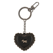 Buy Radley Bowburn Leather Heart Keyring Online at johnlewis.com