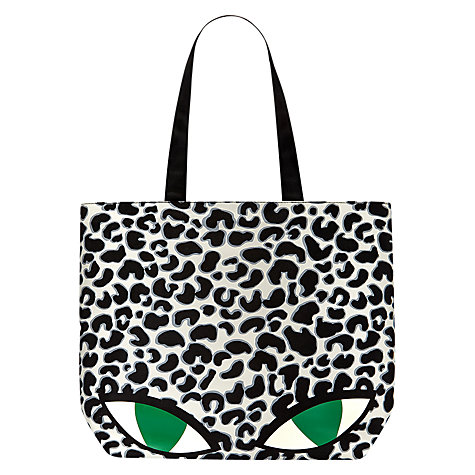 Buy Lulu Guinness Wild Cat Lily Tote Bag, Multi Online at johnlewis.com