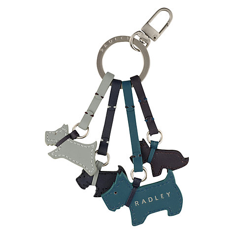 Buy Radley Darlington Scottie Dog Leather Keyring Online at johnlewis.com