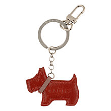 Buy Radley Go Walkies Leather Dog Keyring Online at johnlewis.com