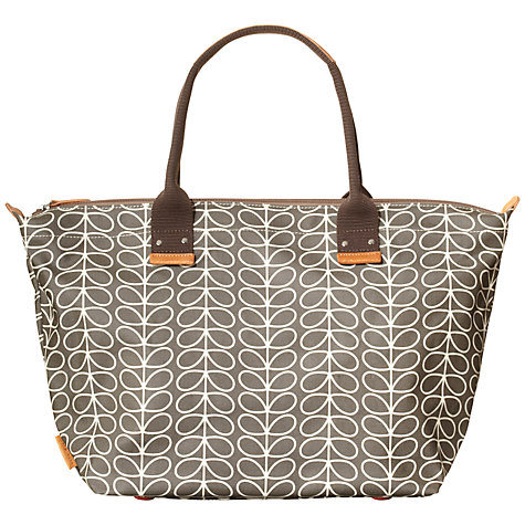 Buy Orla Kiely Linear Stem Easy Zip Tote, Grey Online at johnlewis.com