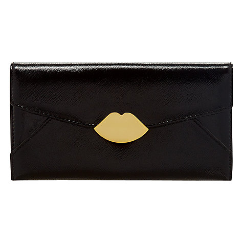 Buy Lulu Guinness Envelope Trifold Wallet, Large, Black Online at johnlewis.com