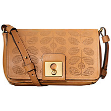 Buy Orla Kiely Sixties Stem Punched Leather Robin Bag, Tan Online at johnlewis.com