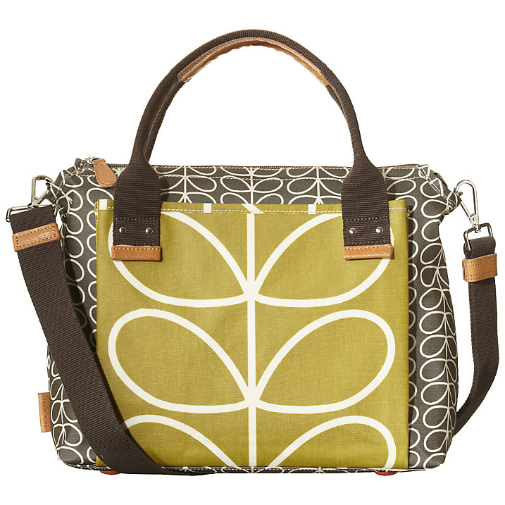 Buy Orla Kiely Printed Tote Handbag, Linear Stem Online at johnlewis.com