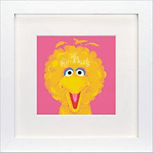 Buy Sesame Street - Big Bird Framed Print, 23 x 23cm Online at johnlewis.com