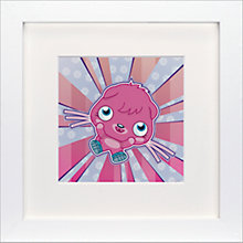 Buy Moshi Monsters Poppet Framed Print, 23 x 23cm Online at johnlewis.com