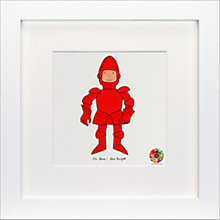 Buy David Mckee - Mr Benn Knight Framed Print, 23 x 23cm Online at johnlewis.com