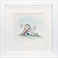 Buy Schulz - Linus and Snoopy Framed Print, 23 x 23cm Online at johnlewis.com