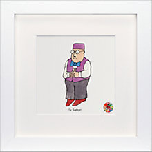 Buy David Mckee - Mr Benn Shopkeeper Framed Print, 23 x 23cm Online at johnlewis.com