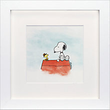 Buy Schulz -Snoopy and Woodstock Down To Business Framed Print, 23 x 23cm Online at johnlewis.com