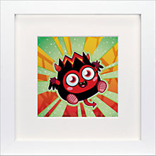 Buy Moshi Monsters Diavlo Framed Print, 23 x 23cm Online at johnlewis.com