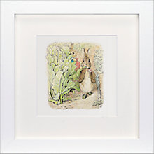 Buy Beatrix Potter - Benjamin Bunny Framed Print, 23 x 23cm Online at johnlewis.com