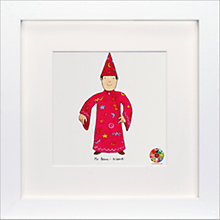 Buy David Mckee - Mr Benn Wizard Framed Print, 23 x 23cm Online at johnlewis.com