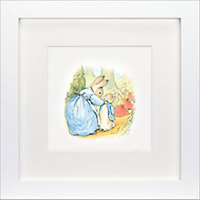 Buy Beatrix Potter - Now Run Along Peter Rabbit Framed Print, 23 x 23cm Online at johnlewis.com