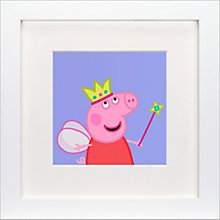 Buy Astley Baker Davies - Peppa Princess Framed Print, 23 x 23cm Online at johnlewis.com