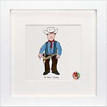 Buy David Mckee - Mr Benn Cowboy Framed Print, 23 x 23cm Online at johnlewis.com