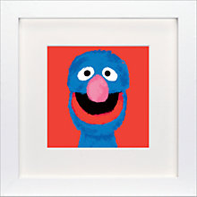 Buy Sesame Street - Grover Framed Print, 23 x 23cm Online at johnlewis.com