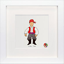 Buy David Mckee - Mr Benn Pirate Framed Print, 23 x 23cm Online at johnlewis.com