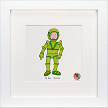 Buy David Mckee - Mr Benn Spaceman Framed Print, 23 x 23cm Online at johnlewis.com