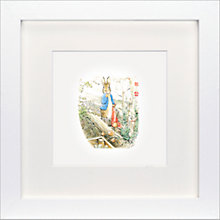 Buy Beatrix Potter - Peter Rabbit Nearly Caught Framed Print, 23 x 23cm Online at johnlewis.com