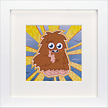 Buy Moshi Monsters Furi Framed Print, 23 x 23cm Online at johnlewis.com