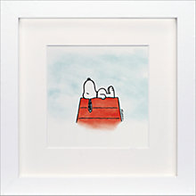 Buy Schulz - Snoopy Me Time Framed Print, 23 x 23cm Online at johnlewis.com