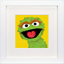 Buy Sesame Street - Oscar the Grouch Framed Print, 23 x 23cm Online at johnlewis.com