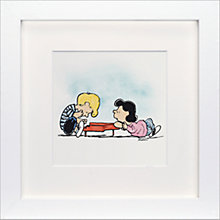Buy Schulz - Schroeder and Lucy Framed Print, 23 x 23cm Online at johnlewis.com