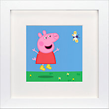 Buy Astley Baker Davies - Peppa Pig Butterfly Framed Print, 23 x 23cm Online at johnlewis.com