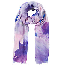 Buy COLLECTION by John Lewis Tulip All Over Print Scarf, Purple Online at johnlewis.com