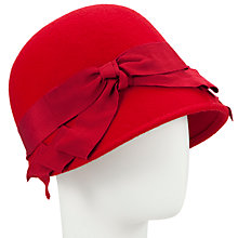 Buy John Lewis Cloche Bow Hat Red Online at johnlewis.com