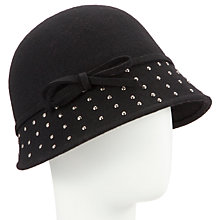 Buy John Lewis Stud Cloche Hat, Black Online at johnlewis.com